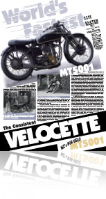 BIG VELO, information sign, poster, PDF, U.K. history , MT5001, 500cc Velocette works bikes, Phil Price, Shaun Waugh