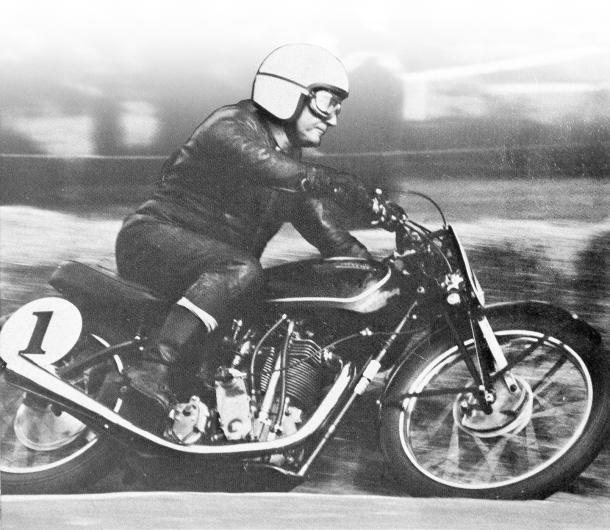 Len Perry, Big Velo, Velocette, racing