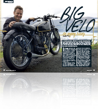 BikeRider NZ magazine, Chris Swallow, Big Velo, Velocette, Phil Price, Lyttelton Harbour