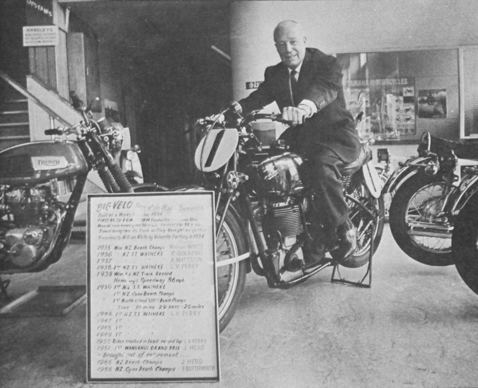 Mr William White, Big Velo, Velocette, White's Newmarket Showroom
