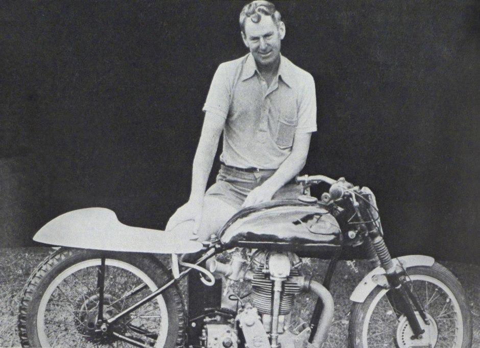 Peter Butterworth, Velocette, Portrait, 1972