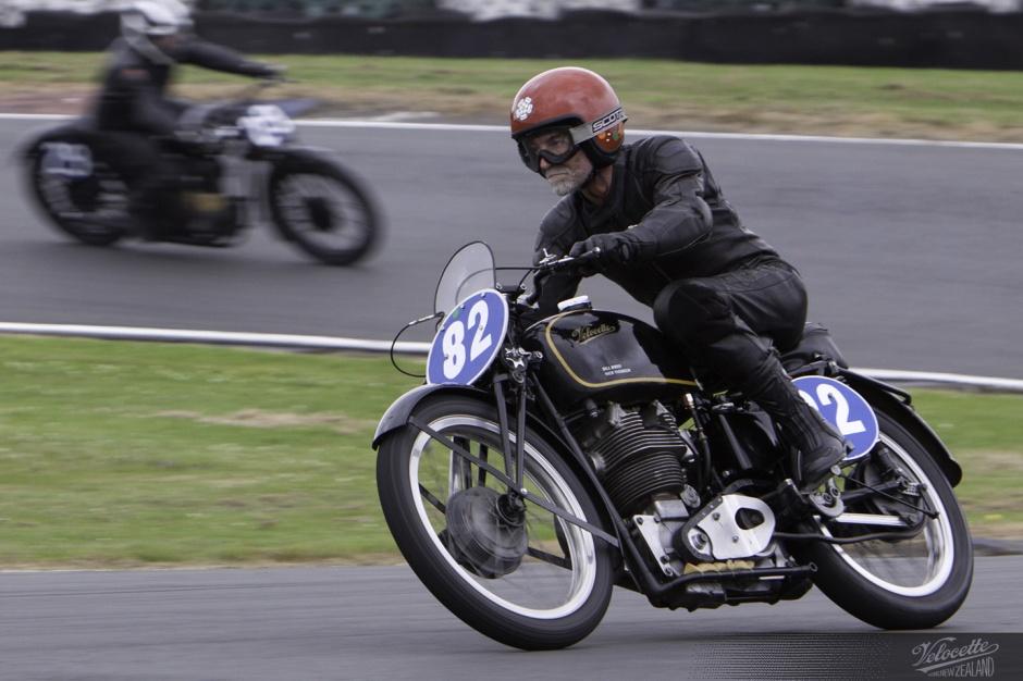 Bill Swallow, Rider 82, Velocette KTT, NZCMRR, 2012 Classic Festival, Pukekohe Park Raceway