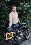 Phil Price, portrait, 500cc Velocette Venom Thruxton