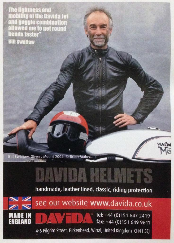 Bill Swallow, Davida helmets, magazine ad, 2004.