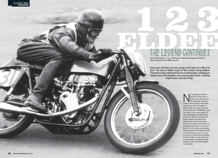 1-2-3 Eldee, The Legend continues, Classic Bike article, Bike Rider New Zealand,