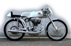 Italian F. B. Mondial Bialbero 125cc works race bike, double overhead camshaft
