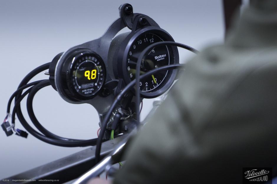 Eldee 2, Scitsu meter and Air/Fuel meter detail, Dyno session.