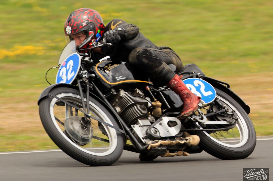 Chris Swallow aboard Velocette KTT MKVIII at the Hampton Downs Summer Classic 2015.