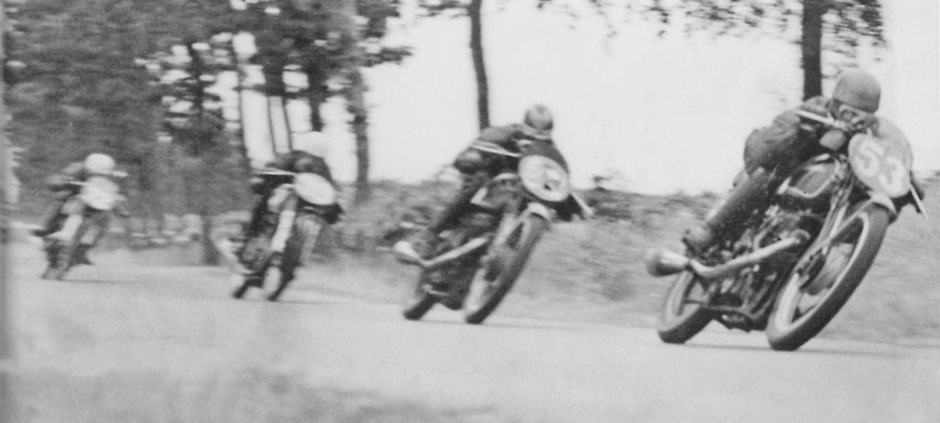 Possibly the most defining image for Velocette, Stanley descending Bray hill on his way to victory 1939 Junior Manx, with the wick turned up, note the 'Huntley and Palmer' head, one of many nicknames coined by Harold Willis for the relationship to the large biscuit tin. Willis died on the eve of the race.