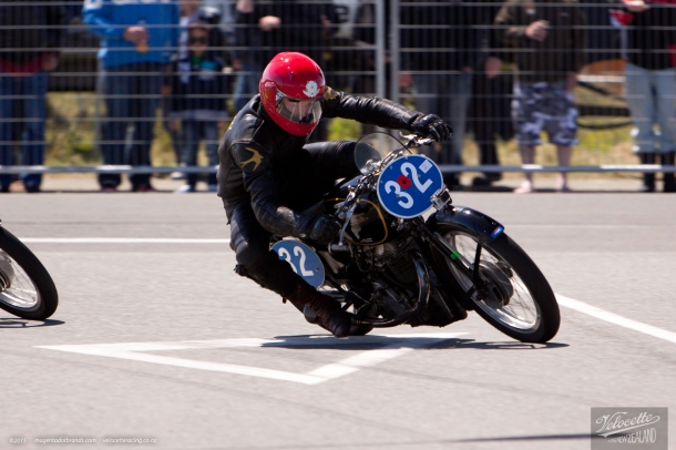 350cc, Burt Munro Challenge, Chris Swallow, Classic Motorcycle Racing, Classic Pre '63 Girder Forks, Invercargill, KTT MKVIII, New Zealand, Rider 32, Street Races, Velocette