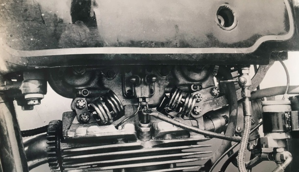 one of the three junior twin cams built for the 1936 TT