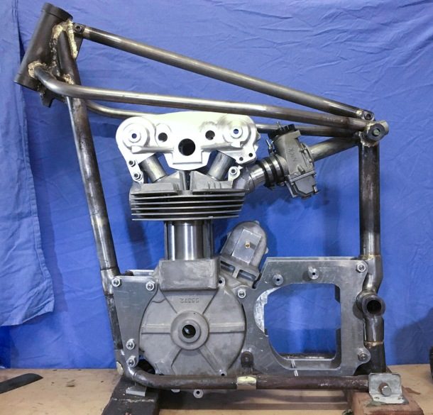 New Velo twin cam 350 engine and frame