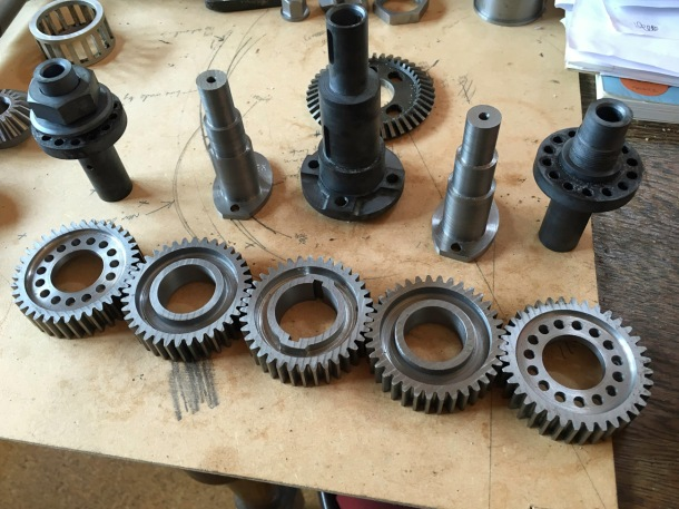 Train of five gears