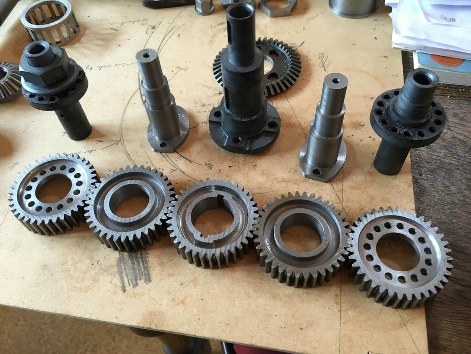 Train of five gears